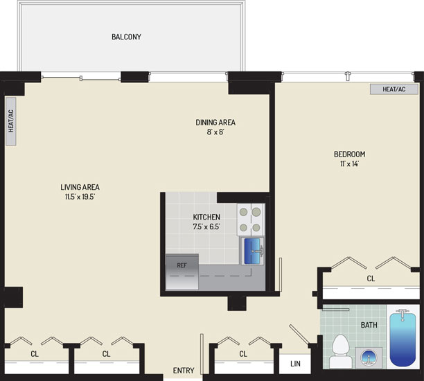 Top of the Hill Apartments - Apartment 443202-802-F