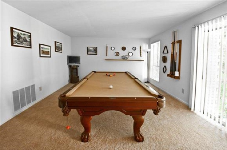Billiard Pool Room at the Towne Crest Apartments in Gaithersburg, MD