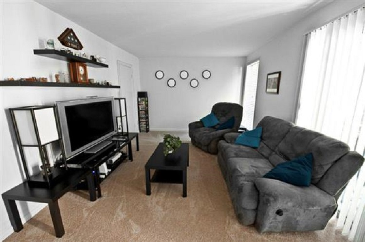 Living Room at the Towne Crest Apartments in Gaithersburg, MD
