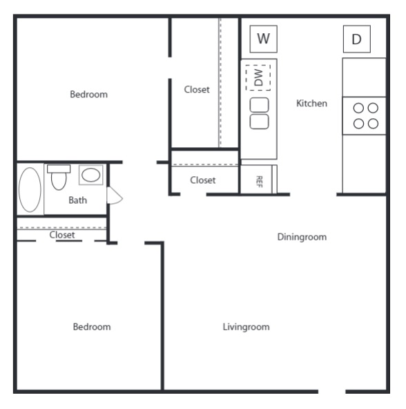 The Trace at North Major - Floorplan - 2B