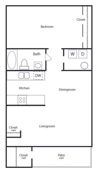 The Trace at North Major - Floorplan - 1B