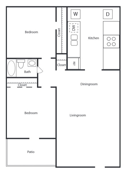 The Trace at North Major - Floorplan - 2A