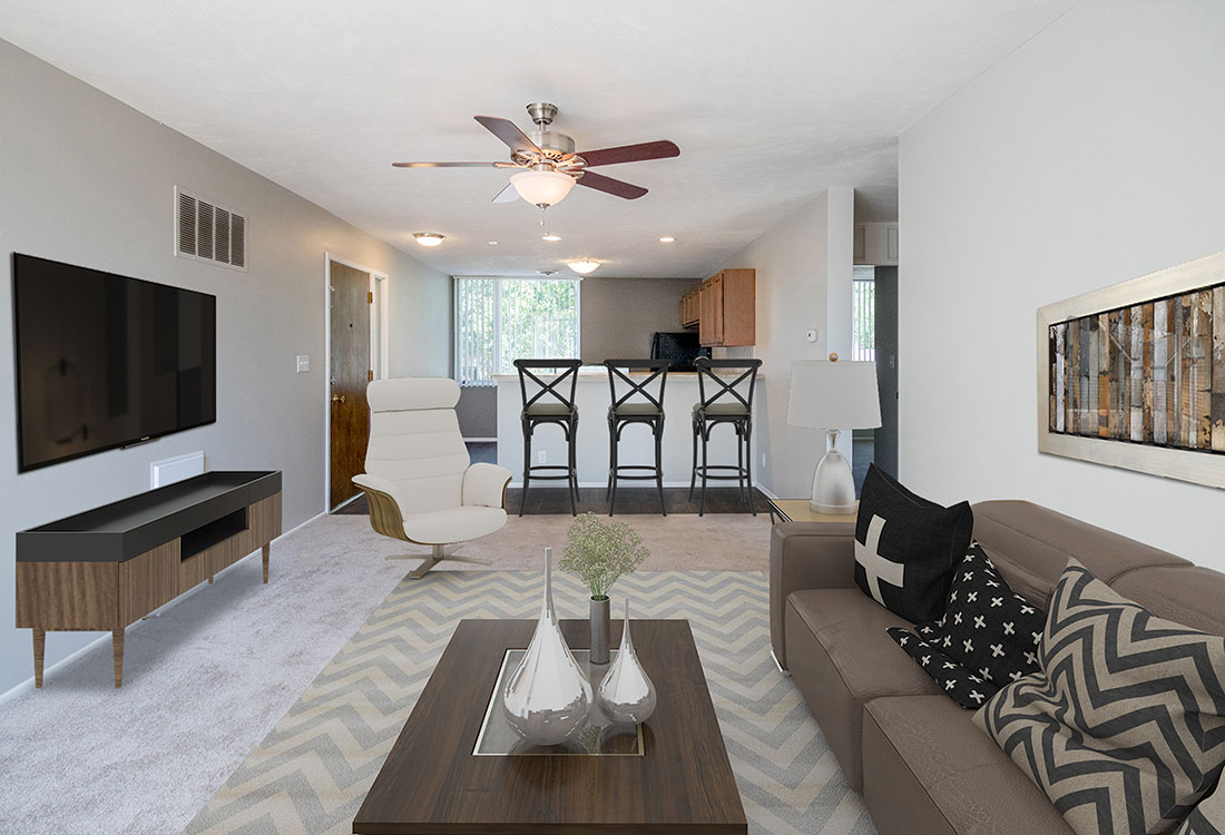 1 & 2 Bedroom Open-Concept Apartments for Rent at Trenridge Gardens in East Lincoln, NE.