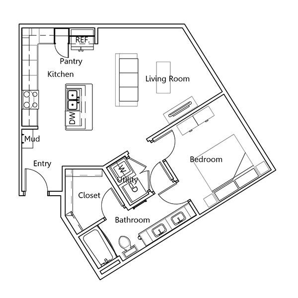 The Truman Arlington Commons - Floorplan - Ford