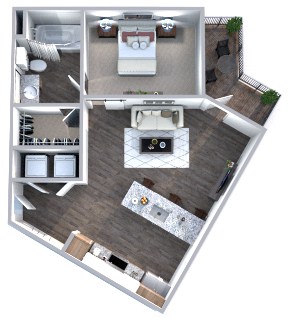 The Truman Arlington Commons - Floorplan - Adams