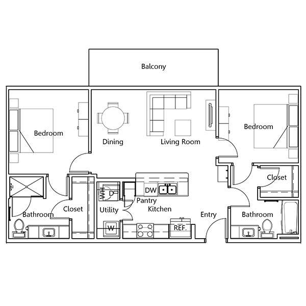 The Truman Arlington Commons - Floorplan - Tyler