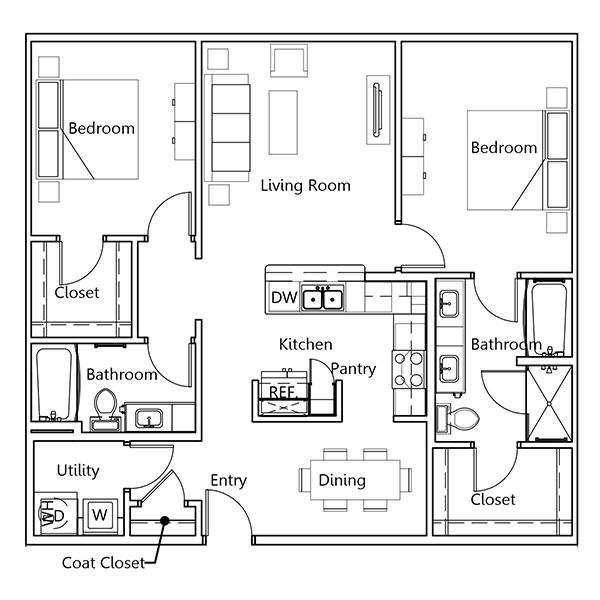 The Truman Arlington Commons - Floorplan - Jackson