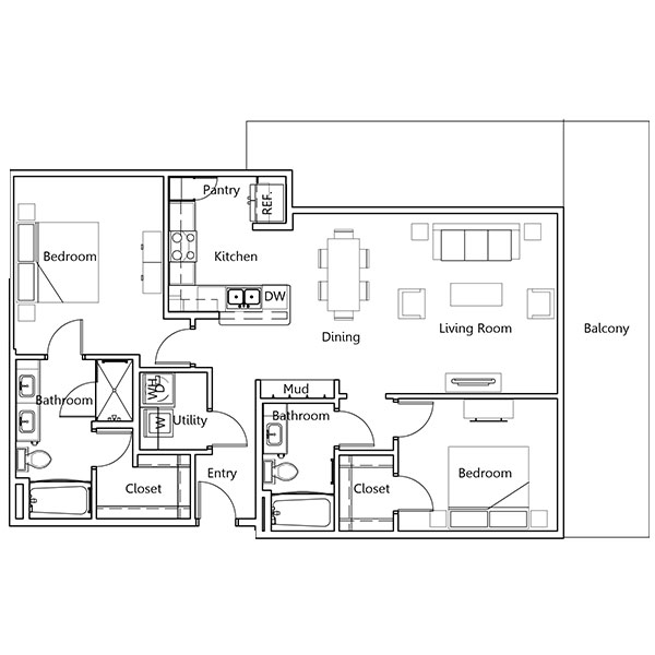 The Truman Arlington Commons - Floorplan - Wilson
