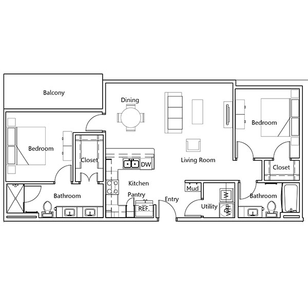 The Truman Arlington Commons - Floorplan - Fillmore