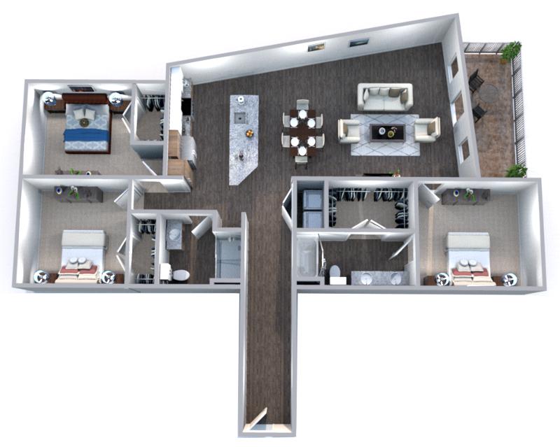The Truman Arlington Commons - Floorplan - Madison