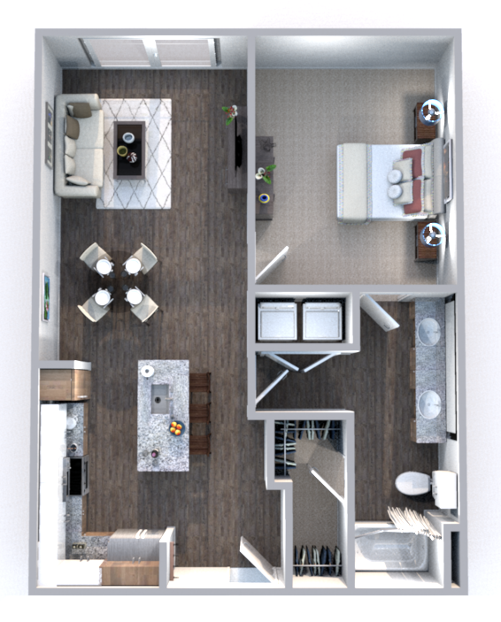 The Truman Arlington Commons - Floorplan - Pierce