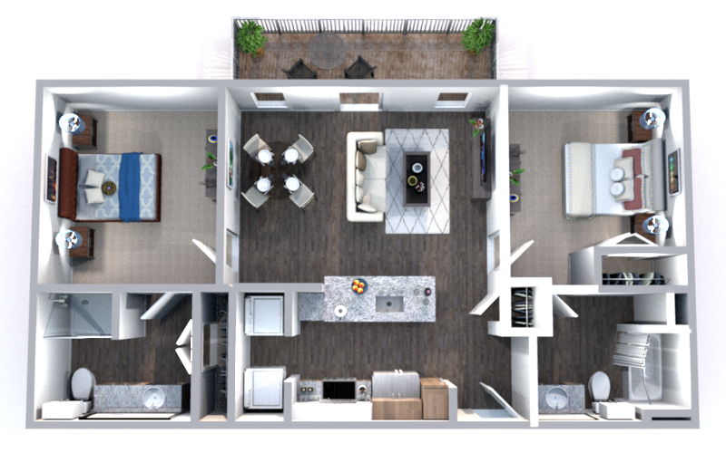 The Truman Arlington Commons - Floorplan - Tyler-HC