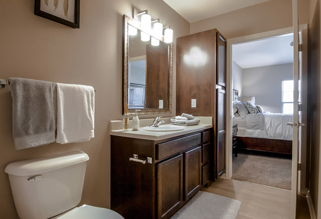 Spacious Master Bathrooms at Tuscany Place Apartments in Papillion, NE