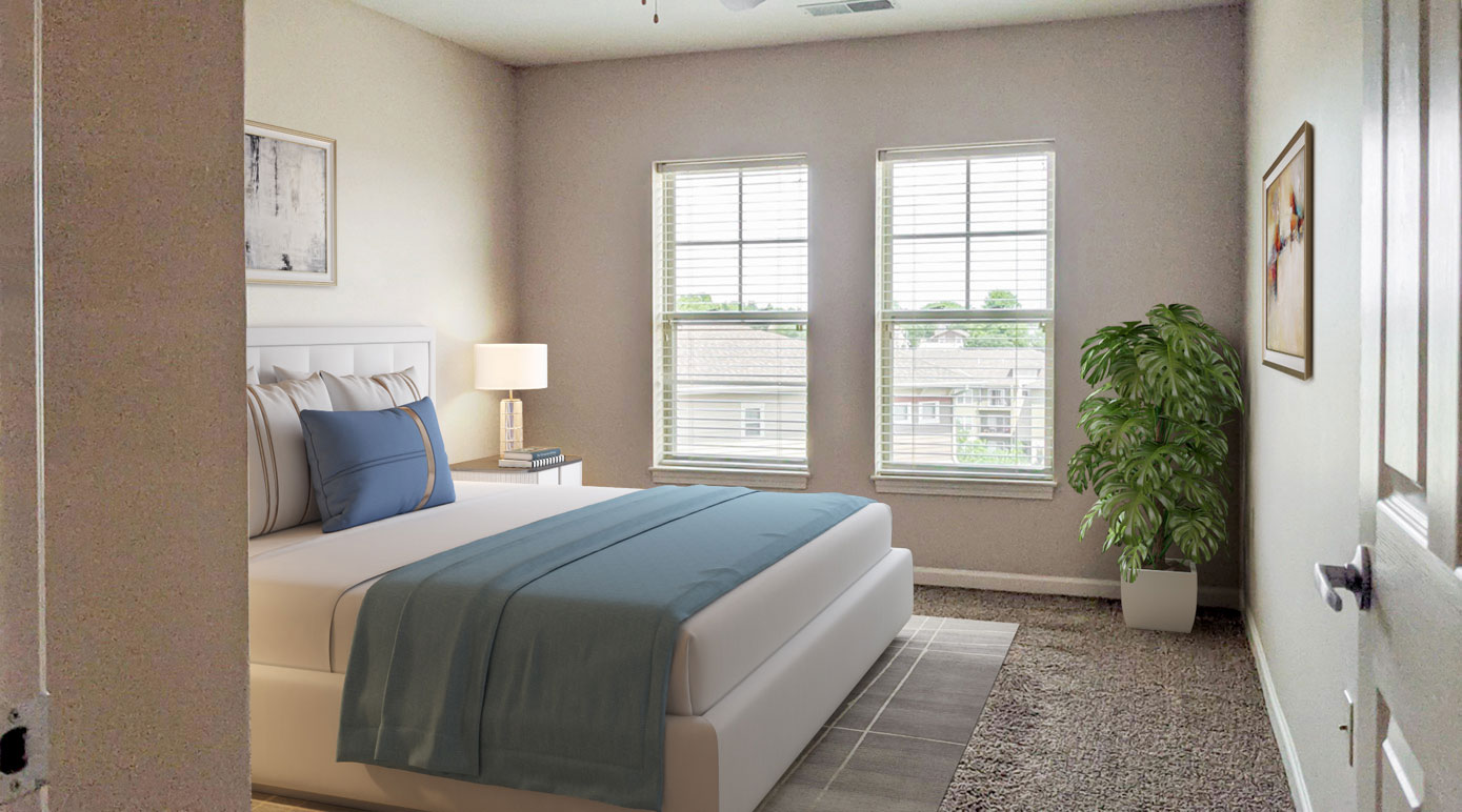 Spacious Bedrooms at Tuscany Place Apartments in Papillion, NE