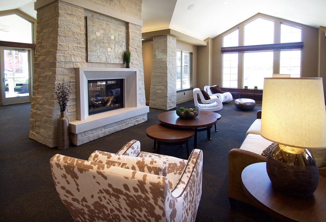 Wood-Burning Fireplaces at Tuscany Place Apartments in Papillion, NE
