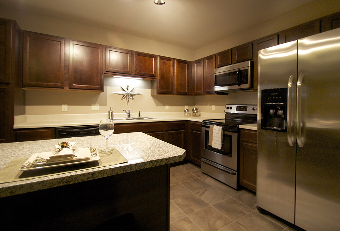 Granite Countertops at Tuscany Place Apartments in Papillion, NE