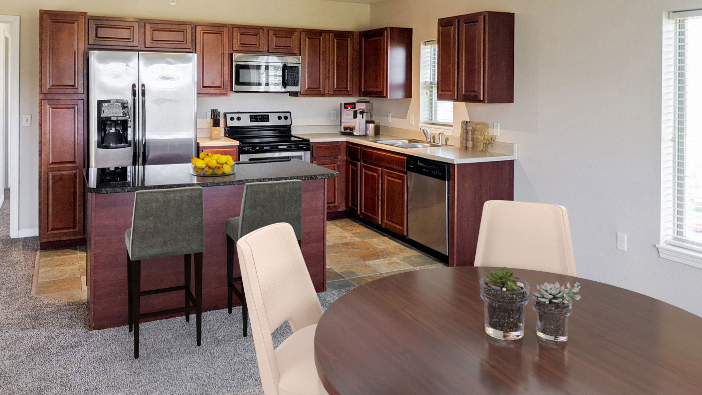 Stainless Steel Appliances in Kitchens at Tuscany Place Apartments in Papillion, NE