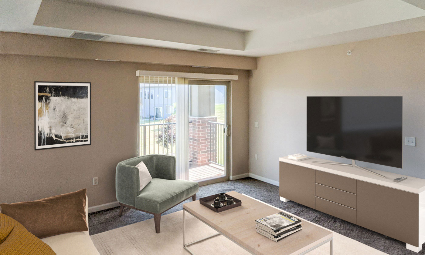 Open Living Spaces at Tuscany Place Apartments in Papillion, NE