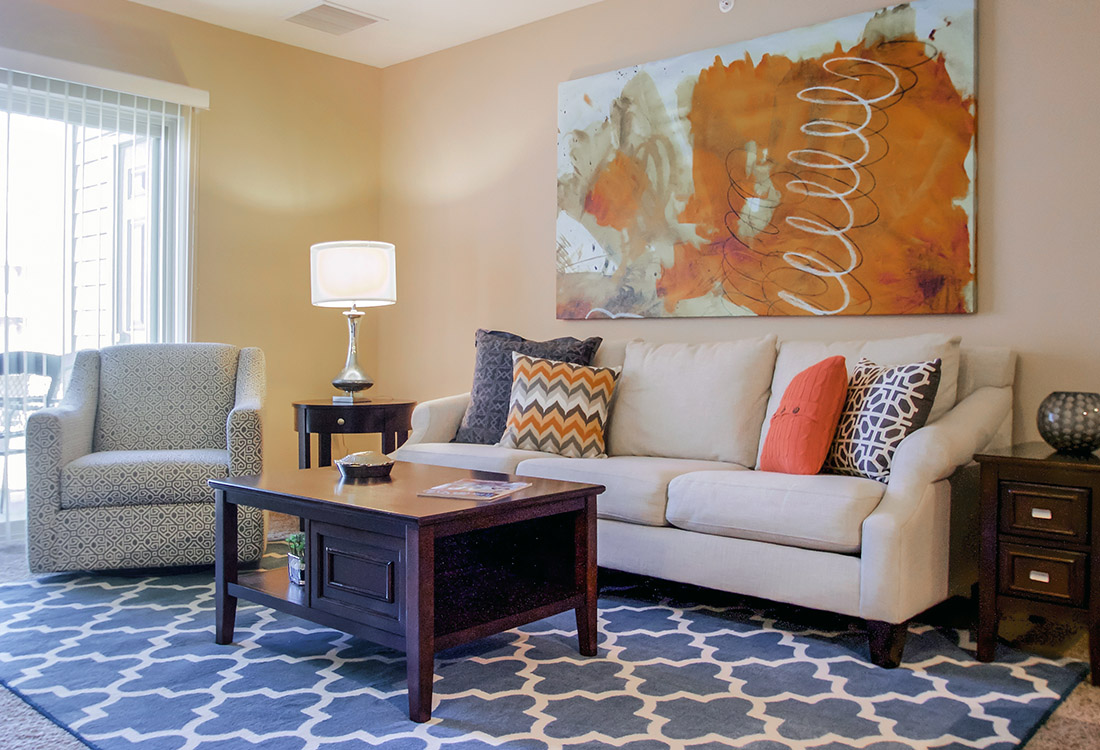 Open Entertainment Spaces at Tuscany Place Apartments in Papillion, NE