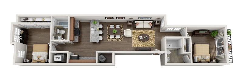 U City Flats - Floorplan - C - Third Floor