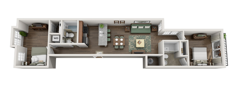 U City Flats - Floorplan - B - Second Floor