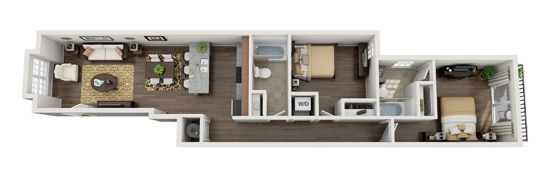 U City Flats - Floorplan - A - First Floor