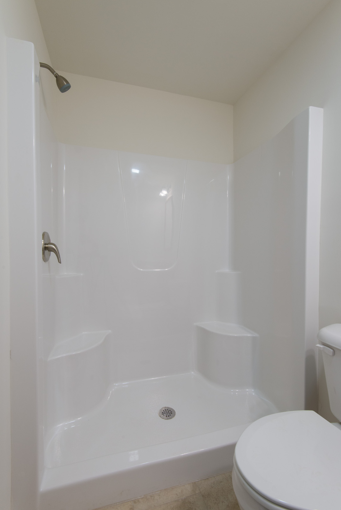 Walk-In Shower at U City Flats Apartments in Philadelphia, Pennsylvania
