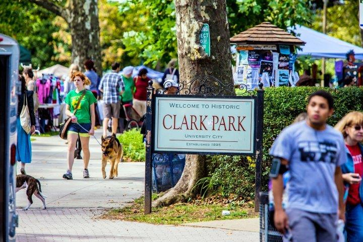 Clark Park in the University City Neighborhood of Philadelphia, Pennsylvania