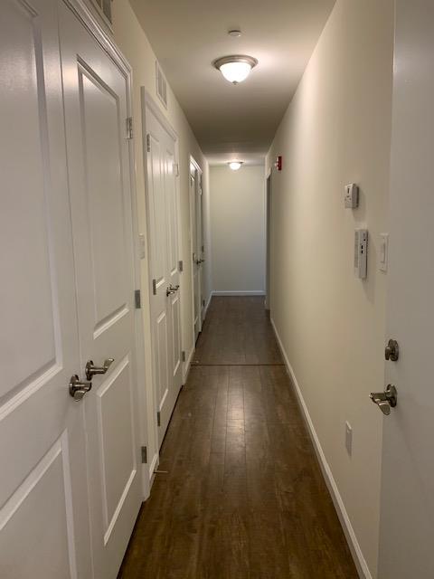 Long Hallway at U City Flats Apartments in Philadelphia, Pennsylvania