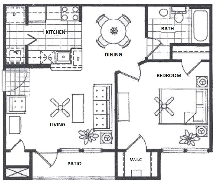 Vail Village Club Apartments - Floorplan - 1 Bedroom- B