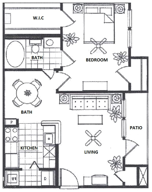 Vail Village Club Apartments - Floorplan - A3