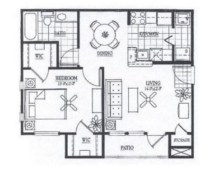 Vail Village Club Apartments - Floorplan - A1