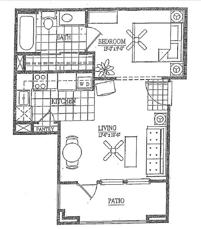 Vail Village Club Apartments - Floorplan - A