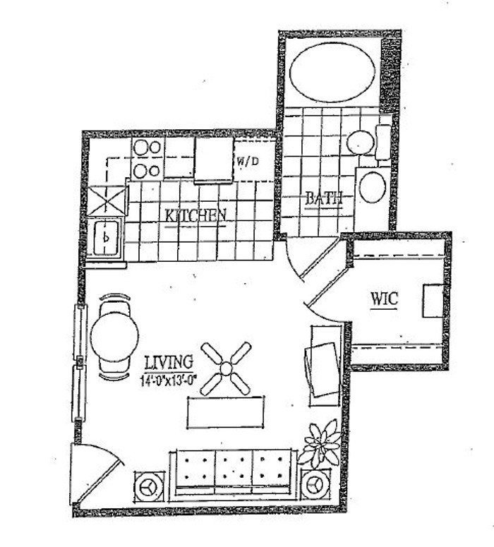 Vail Village Club Apartments - Floorplan - E1