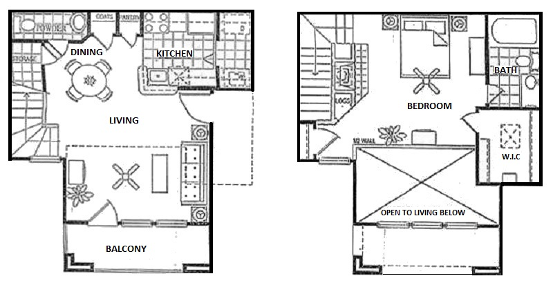 Vail Village Club Apartments - Floorplan - Townhome