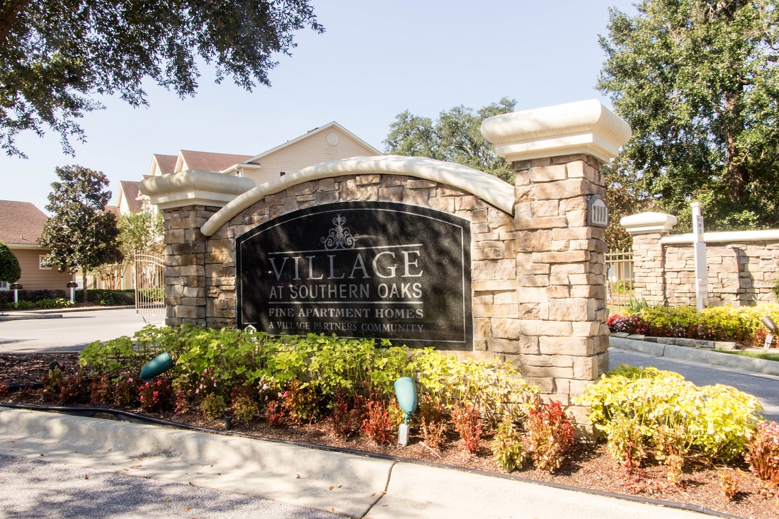 Property Sign at Village at Southern Oaks Apartments in Pensacola, FL