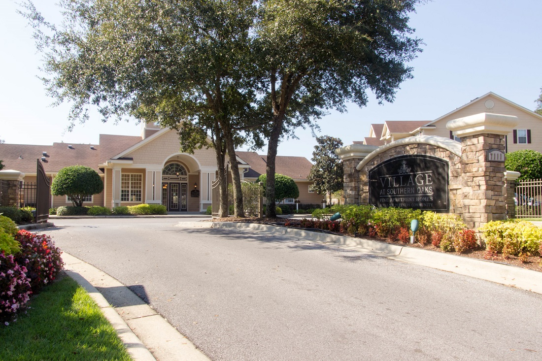 Gated Apartment Community at Village at Southern Oaks Apartments in Pensacola, FL