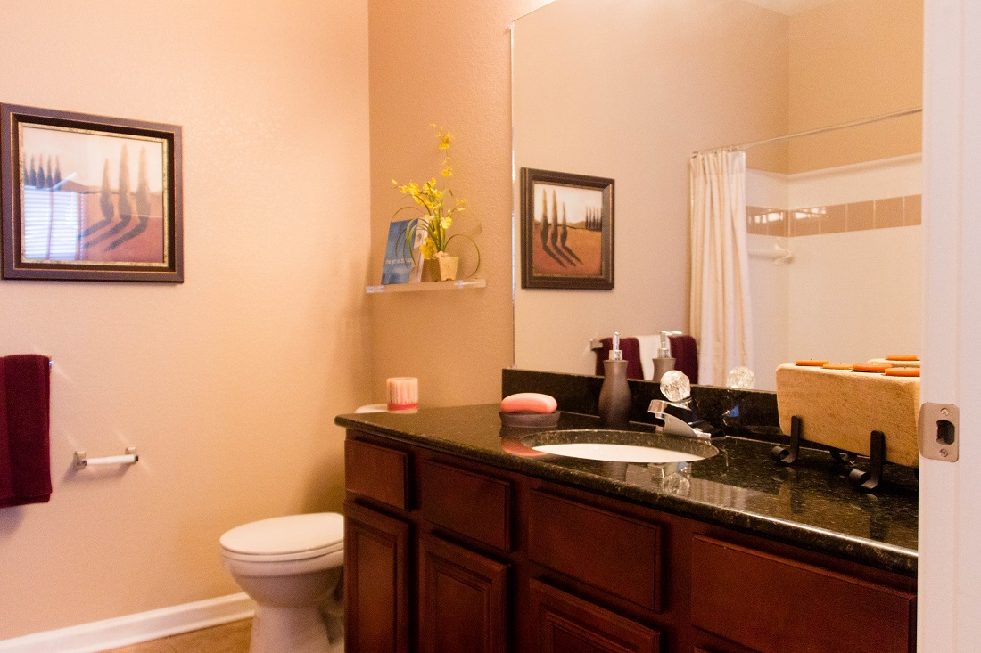 Spacious Bathrooms at Village at Southern Oaks Apartments in Pensacola, FL