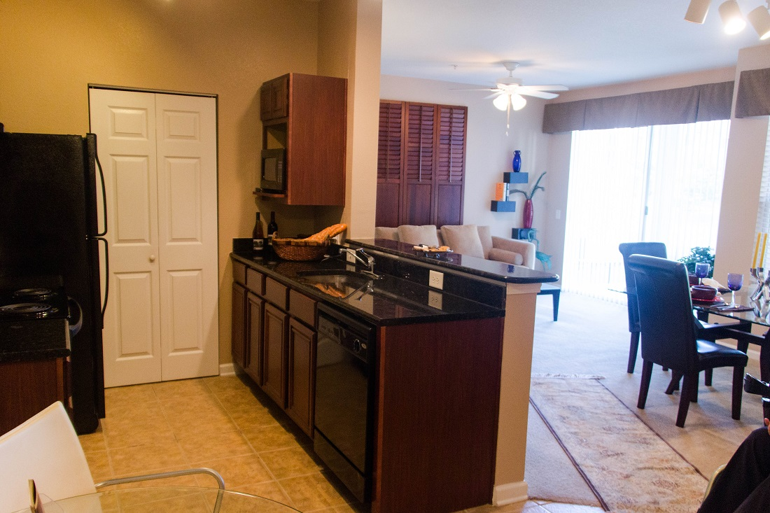 Black Appliances at Village at Southern Oaks Apartments in Pensacola, FL