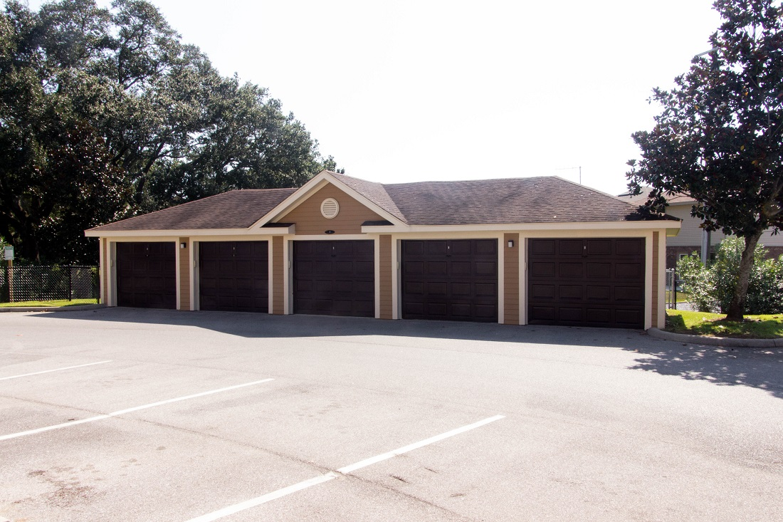 Detached Garages at Village at Southern Oaks Apartments in Pensacola, FL