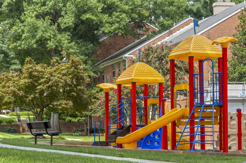 Play area at Village Square Apartments in Wheaton, MD