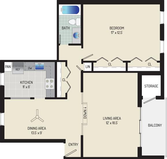 Village Square Apartments - Apartment 021933-401-E1