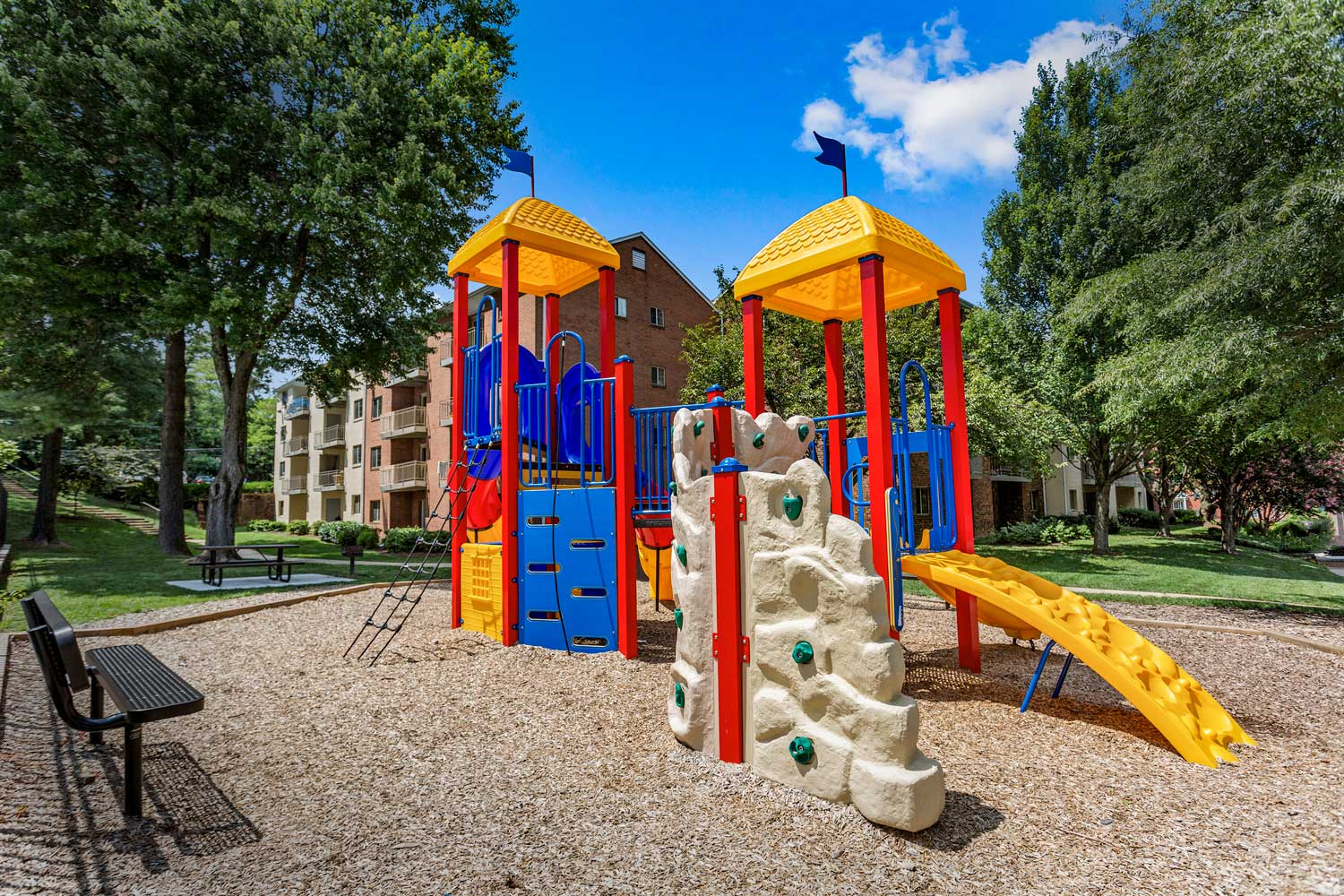 Play area at Village Square West Apartments in North Bethesda, MD