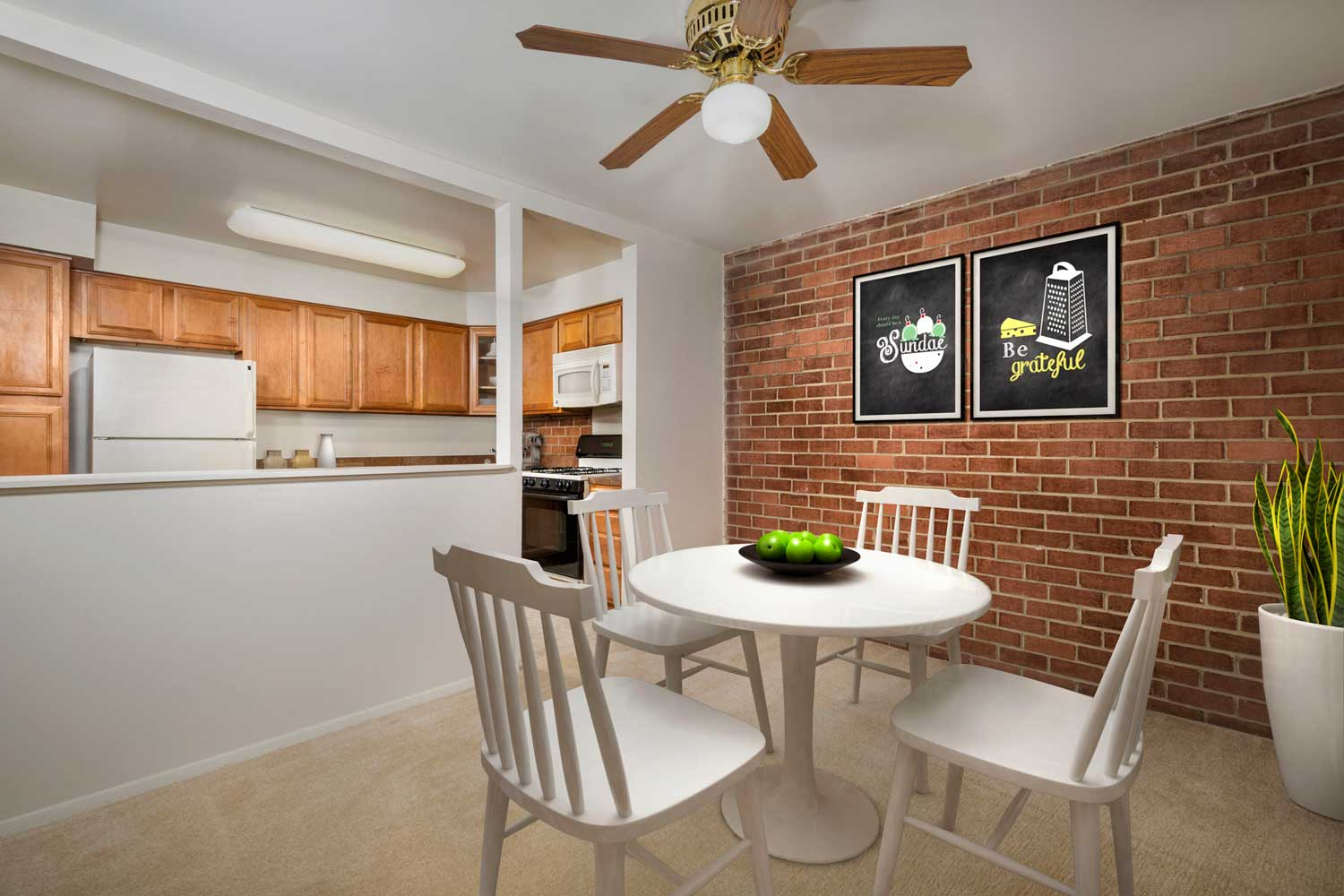 Separate dining area at Village Square West Apartments in North Bethesda, MD
