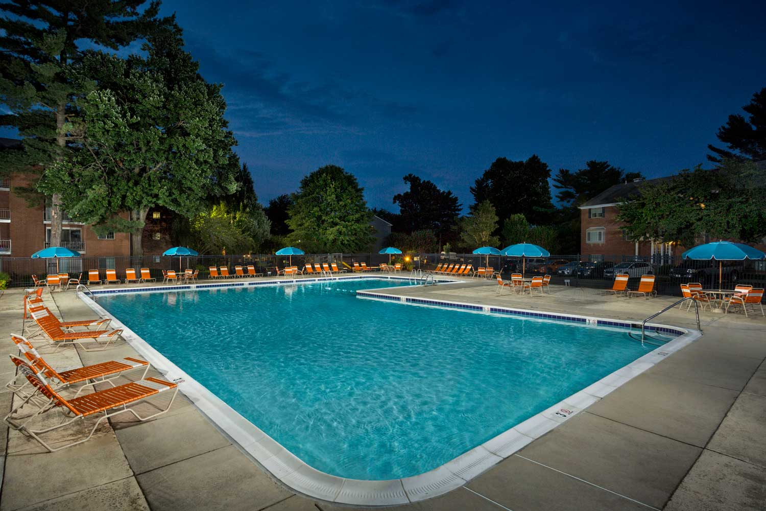 Relaxing swimming pool at Village Square West Apartments