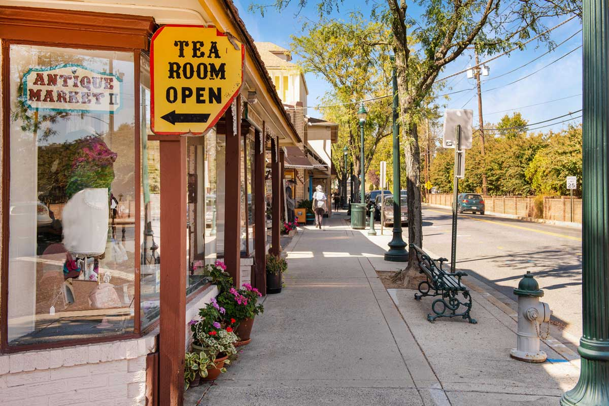 Kensington Antique Row is 10 minutes from Village Square West Apartments