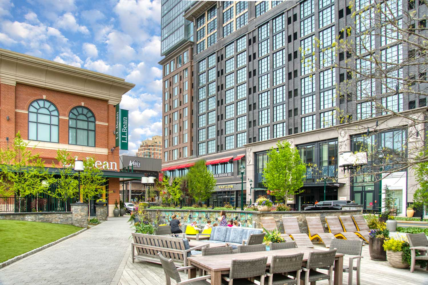 Pike & Rose is 5 minutes from Village Square West Apartments in North Bethesda, MD