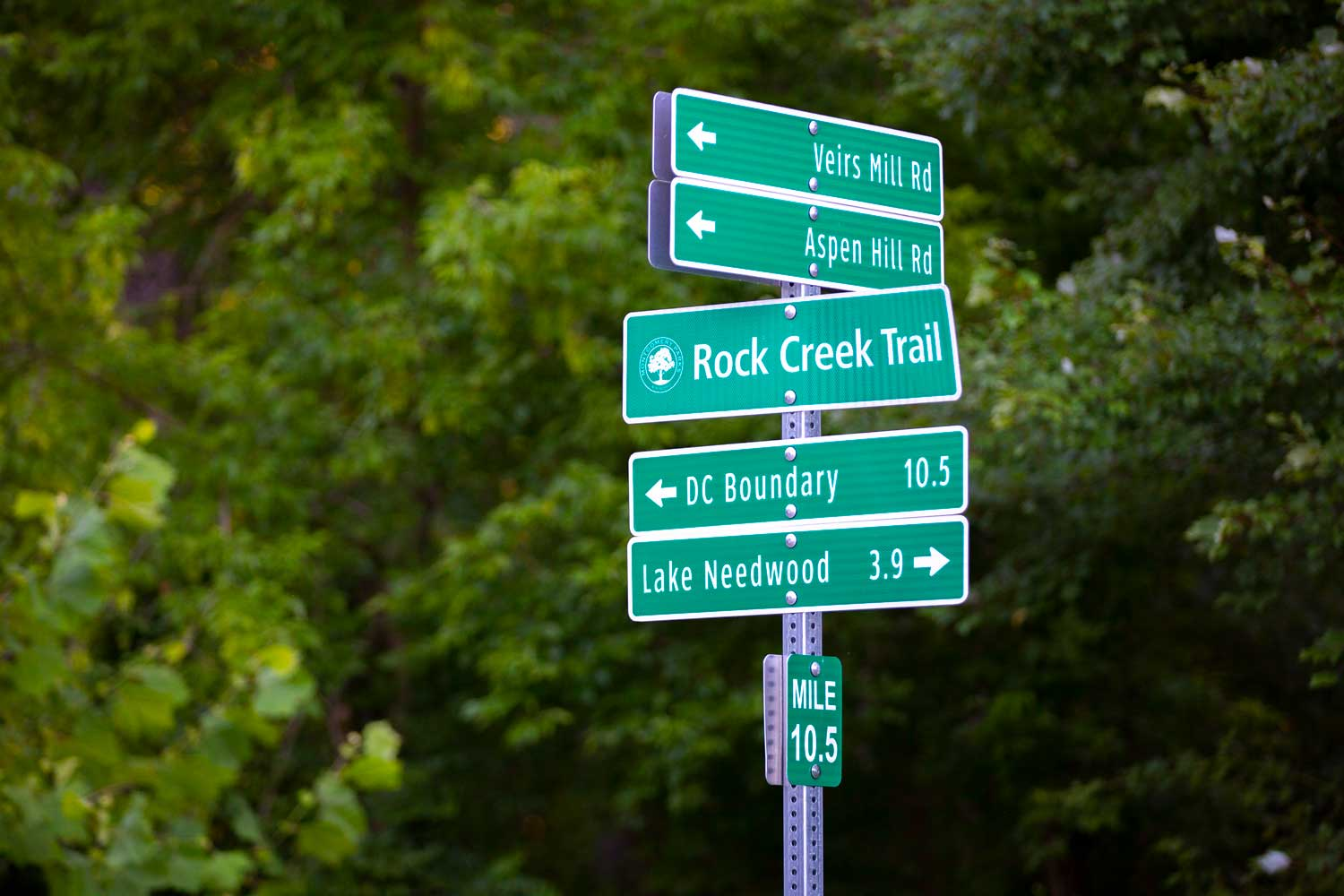 Rock Creek Trail is 5 minutes from Village Square West Apartments