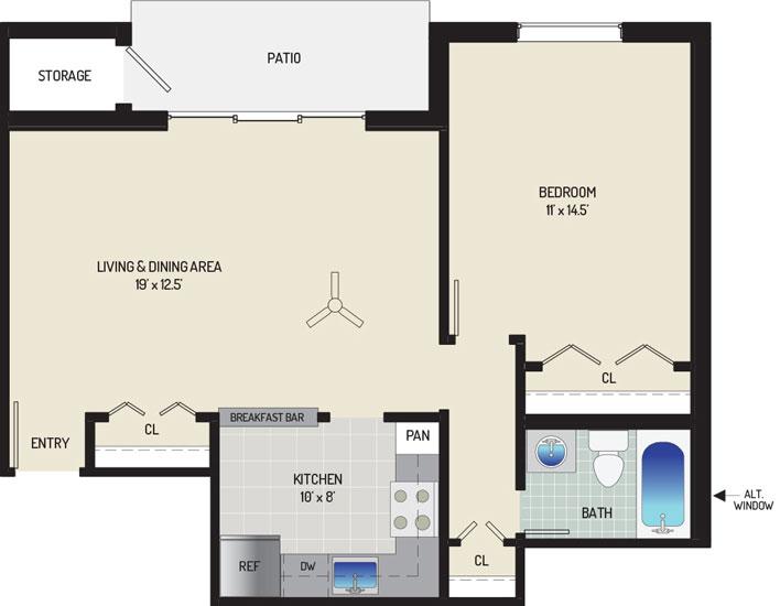 Village Square West Apartments - Apartment 042309-102-B2