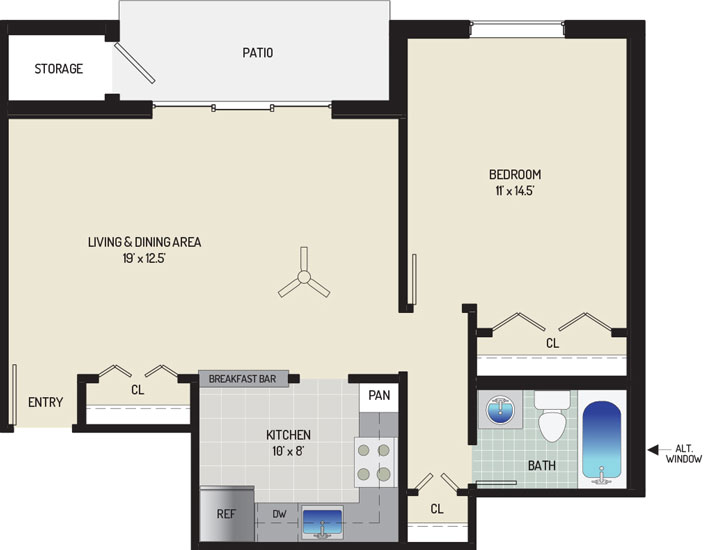 Village Square West Apartments - Apartment 042205-102-B2